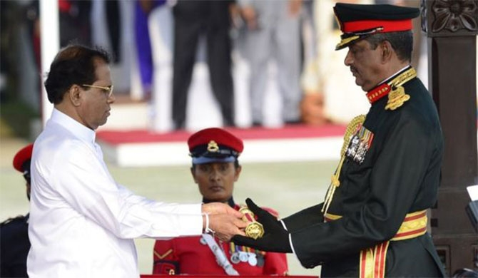 On March 22, 2015, former Army Commander Sarath Fonseka was promoted to Field Marshal