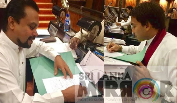 No confidence against Rajitha being signed (pics)