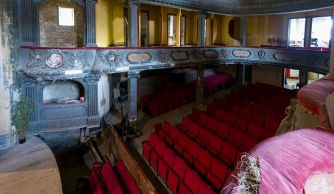 The crumbling Theatre des Blues de Bar in Bar-le-Duc is one beneficiary