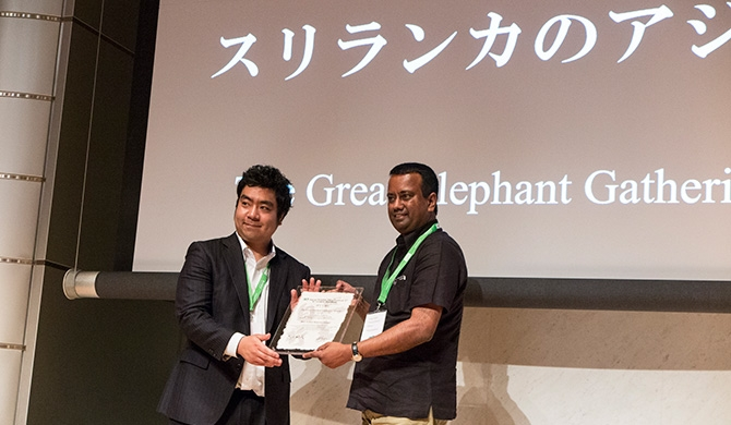 Dilum's 'Elephant Gathering' wins big in Tokyo (Pics)