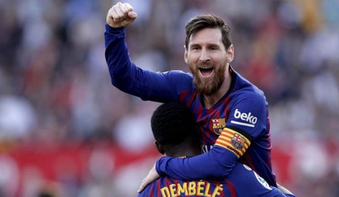 Messi scores 50th hat-trick