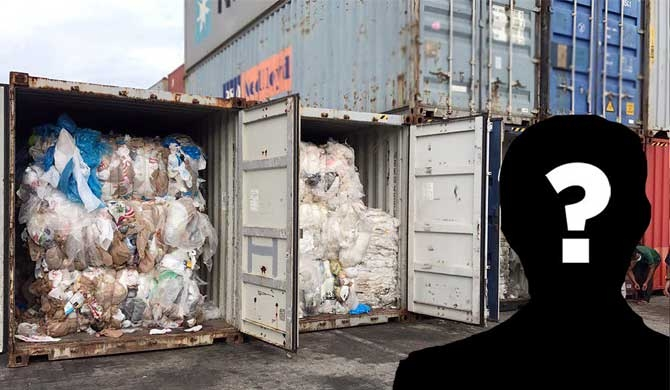 Customs probe on garbage containers, incomplete