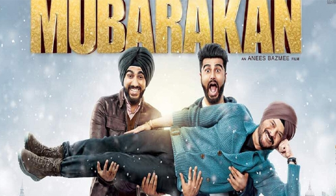 The poster of Mubarakan.