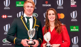 Pieter and Emily win World Rugby's Player of the Year awards