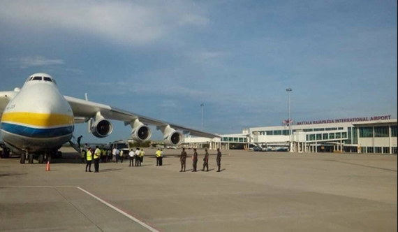 World's largest aircraft lands in Mattala (Pics)