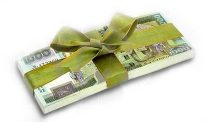 Aloysius used W.M. Mendis money to give cash gifts