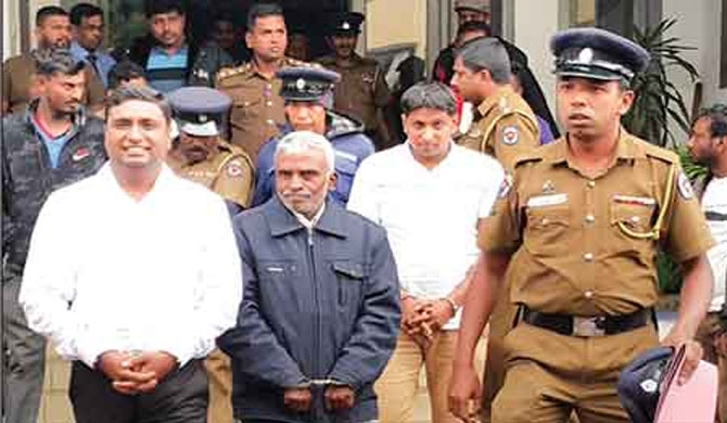 One suspect is the closest follower of MP C.B. Ratnayake