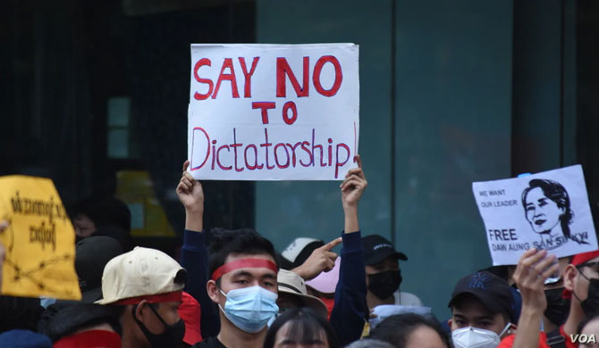 Burma protests against military coup (Pics)