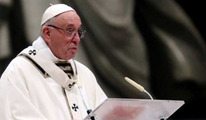 Pope Francis condemns world of materialism & poverty
