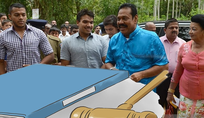 Five cases to nab the Rajapaksas'
